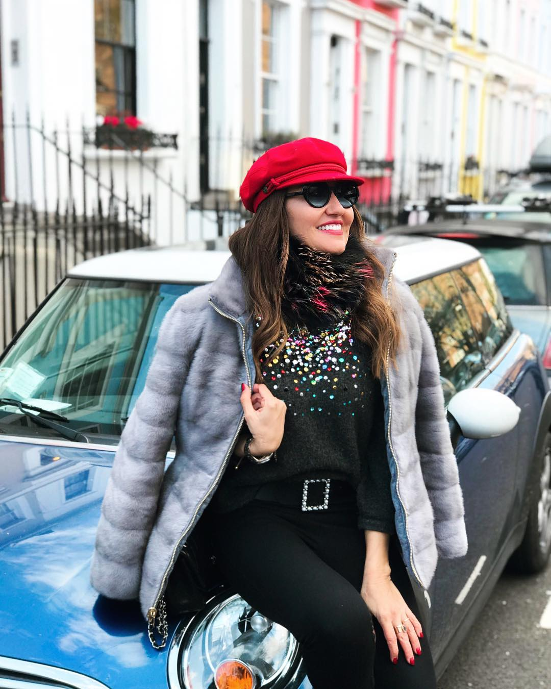 Great day at NottingHill   furjacket angelbenitomoda ???????????????? londonstreetstylehellip